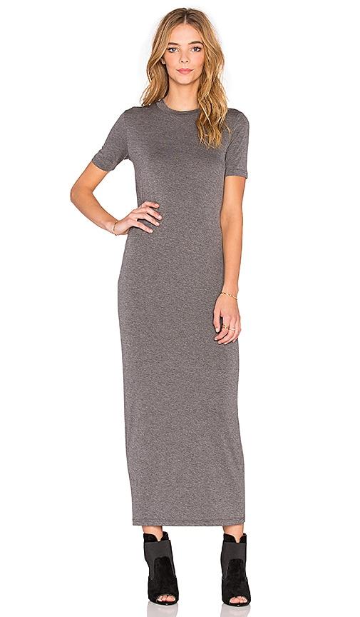 BLQ BASIQ Midi Dress in Charcoal