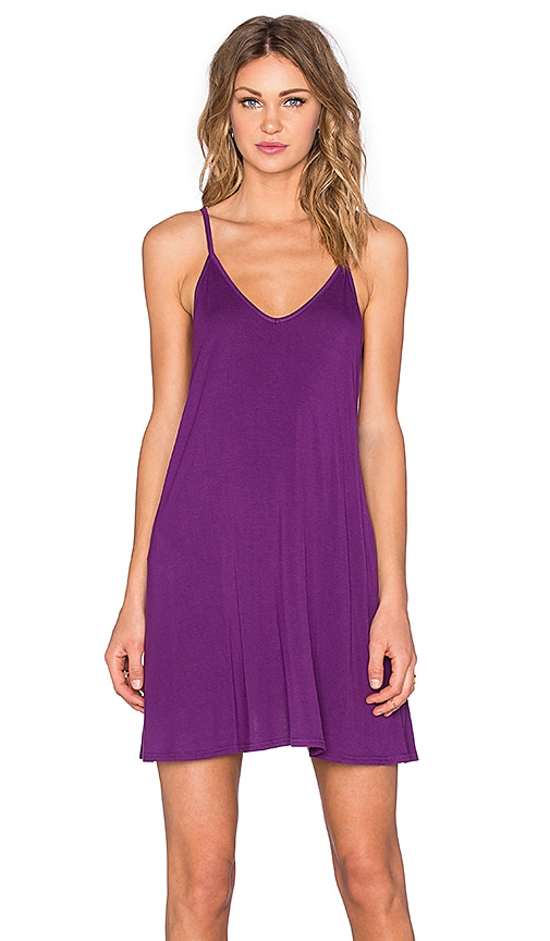 BLQ BASIQ Tank Dress in Amethyst