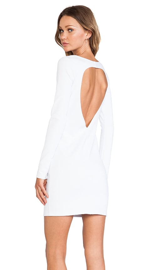 BLQ Basics Cut Out Back Long Sleeve Dress