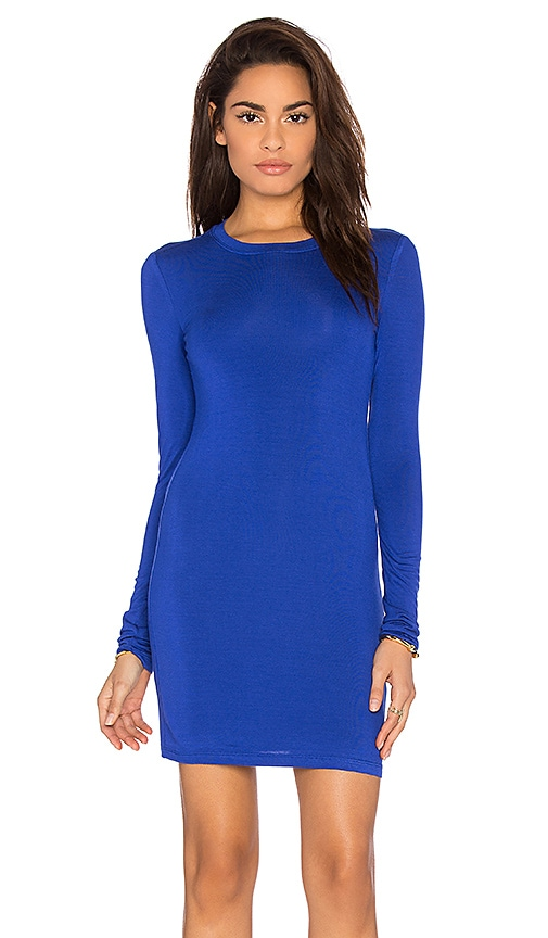 BLQ BASIQ Long Sleeve Dress in Royal