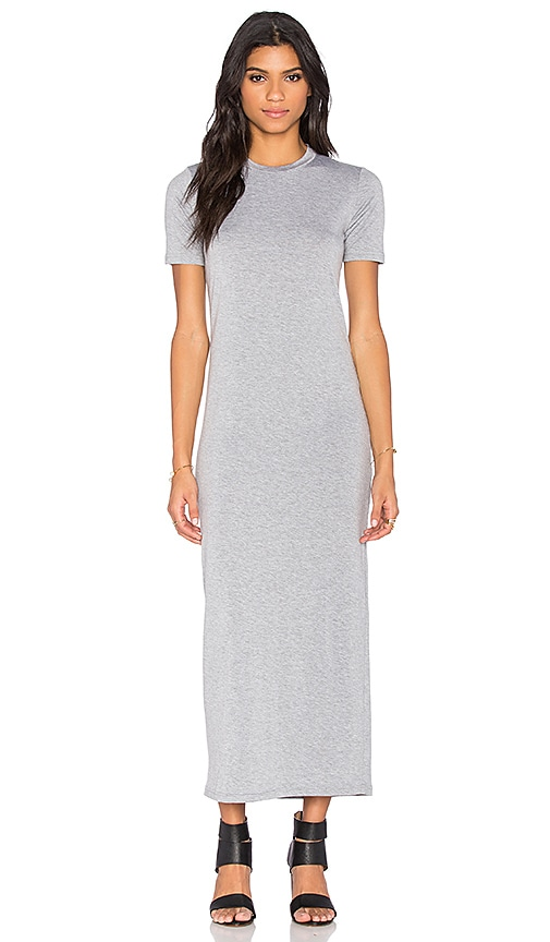 BLQ BASIQ Tee Maxi Dress in Gray