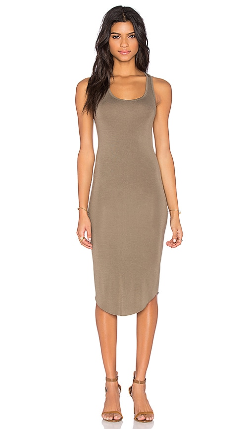 BLQ BASIQ Racer Tank Dress in Clay