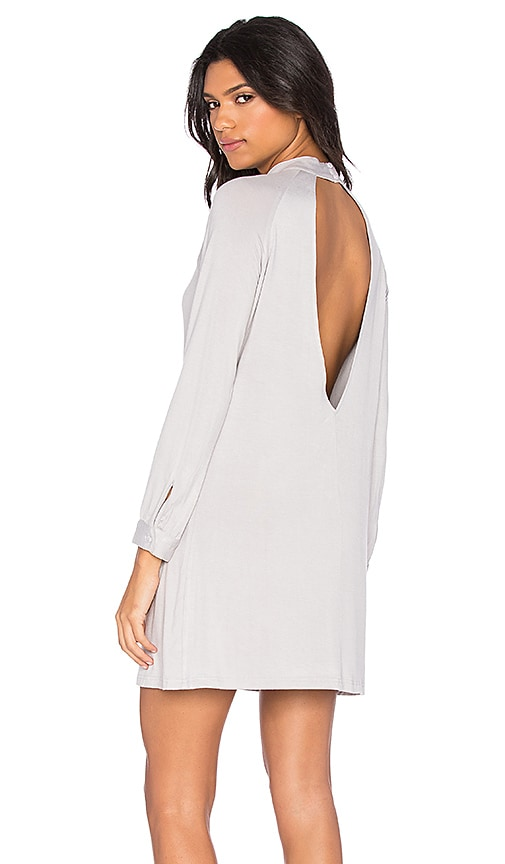BLQ BASIQ Turtle Neck Jersey Dress in Mink