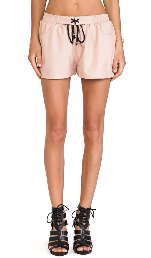 BLQ Basics Faux Leather Shorts