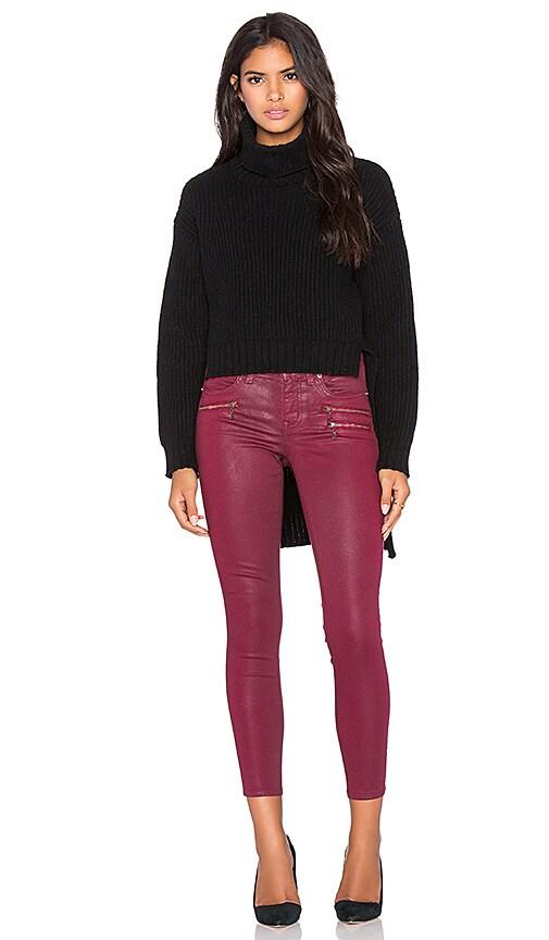 BLQ BASIQ Turtleneck Sweater in Black