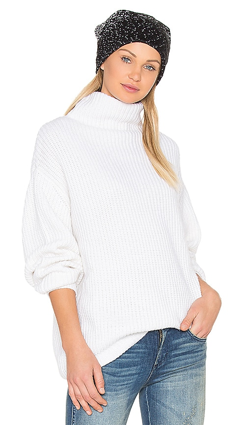 BLQ BASIQ Oversize Turtleneck Sweater in Ivory