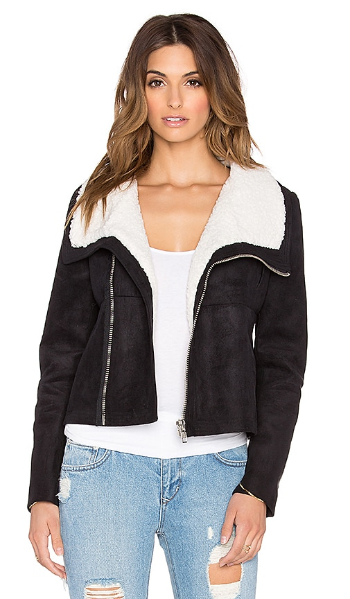 BLQ BASIQ Moto Jacket in Black