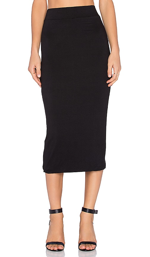 BLQ BASIQ Midi Skirt in Black