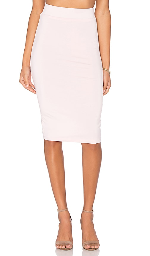 BLQ BASIQ Pencil Skirt in Pink