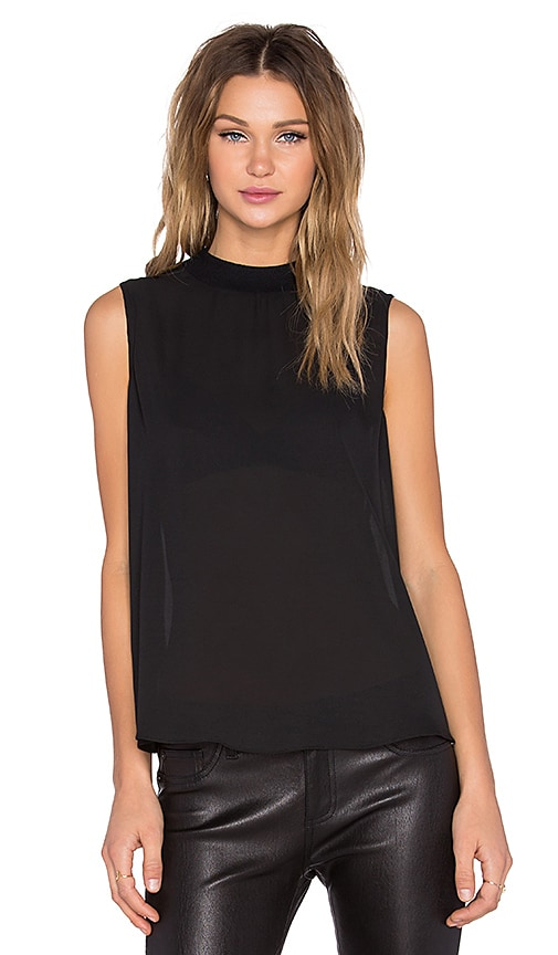 BLQ BASIQ Open Back Tank in Black