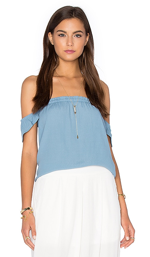 BLQ BASIQ Off Shoulder Top in Blue
