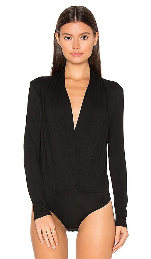 hot sale BLQ BASIQ Ruching Long Sleeve Bodysuit in Black - www.smcmy ... 19684fa47