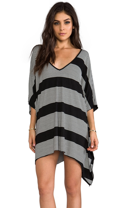 V-Neck Cape Cool Dress