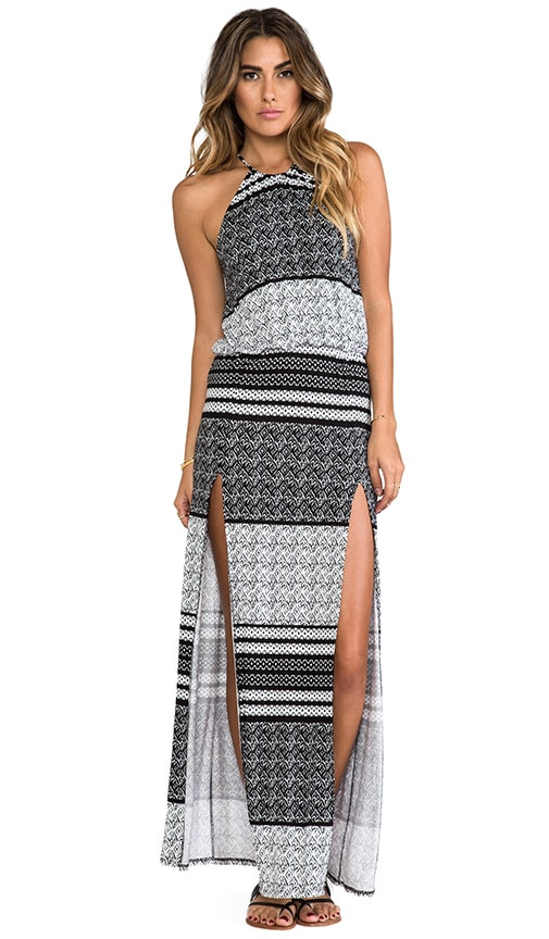 Halter Two-Slit Maxi Dress