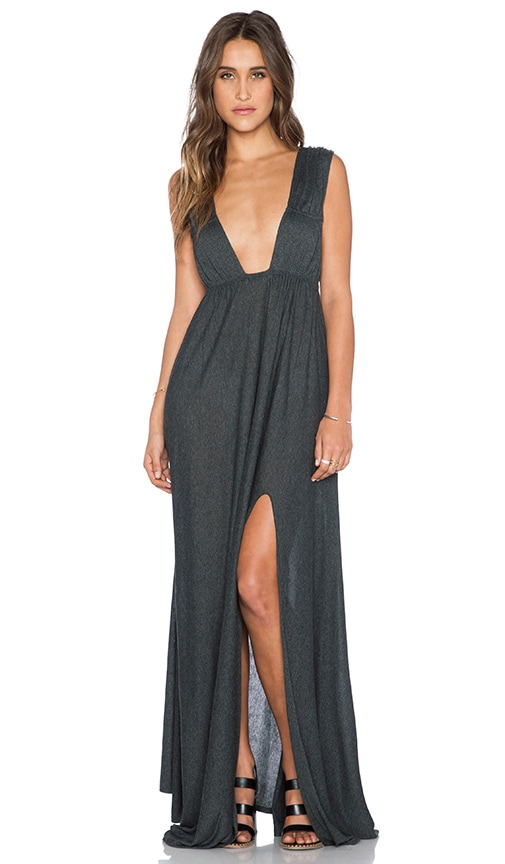 Blue Life Kendall Goddess Dress in Charcoal