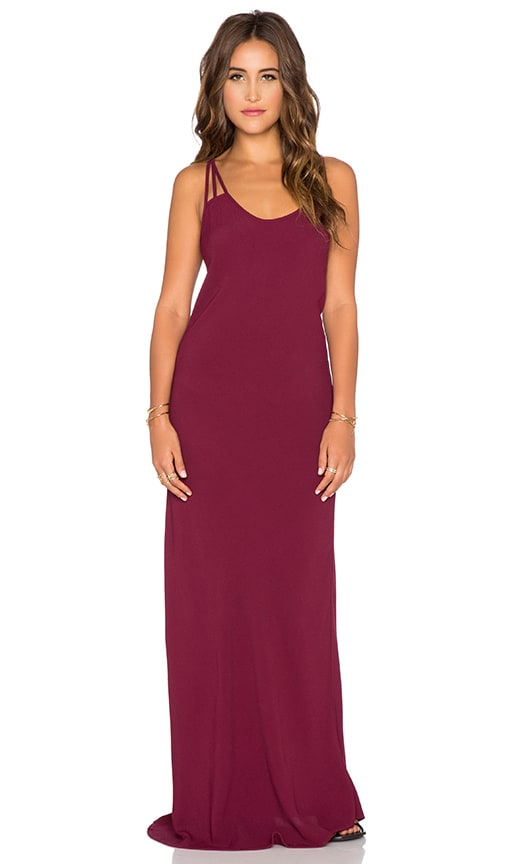 Blue Life Boho Babe Maxi Dress in Burgundy