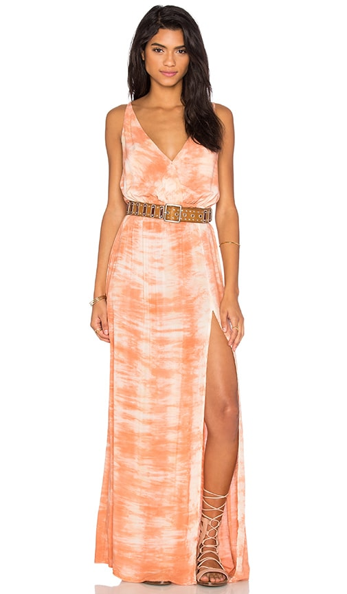Blue Life High Tide Maxi Dress in Coral