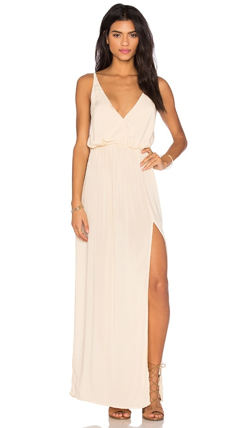 Blue Life High Tide Maxi Dress in Beige