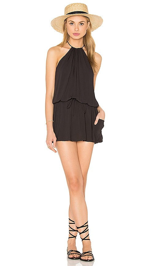 Blue Life Island Life Halter Dress in Black
