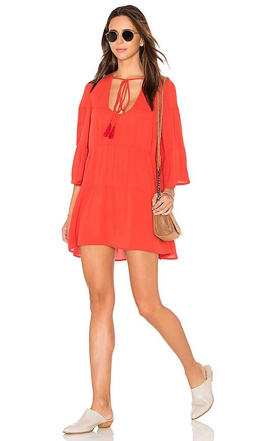 Blue Life Senorita Dress in Orange