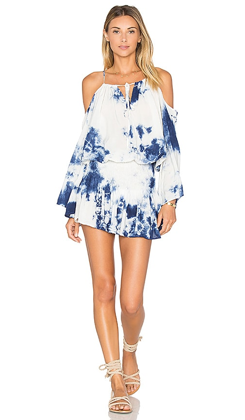 Blue Life Open Shoulder Dress in Blue