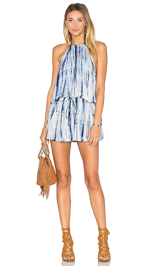 Blue Life Island Halter Dress in Boho Stripe