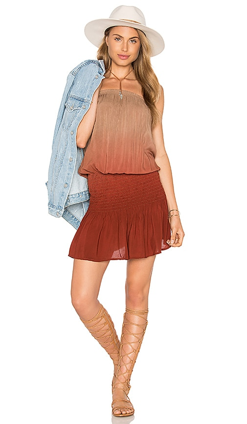 Blue Life Good Karma Mini Dress in Brown