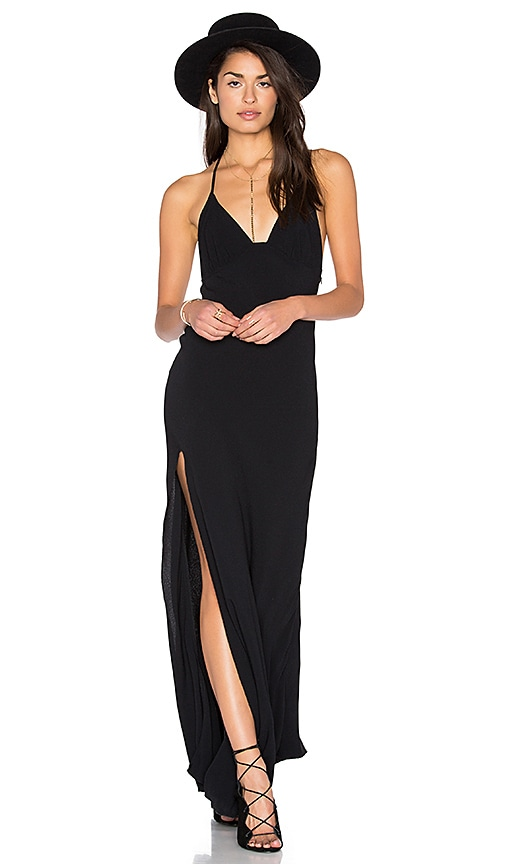 One Slit Halter Maxi