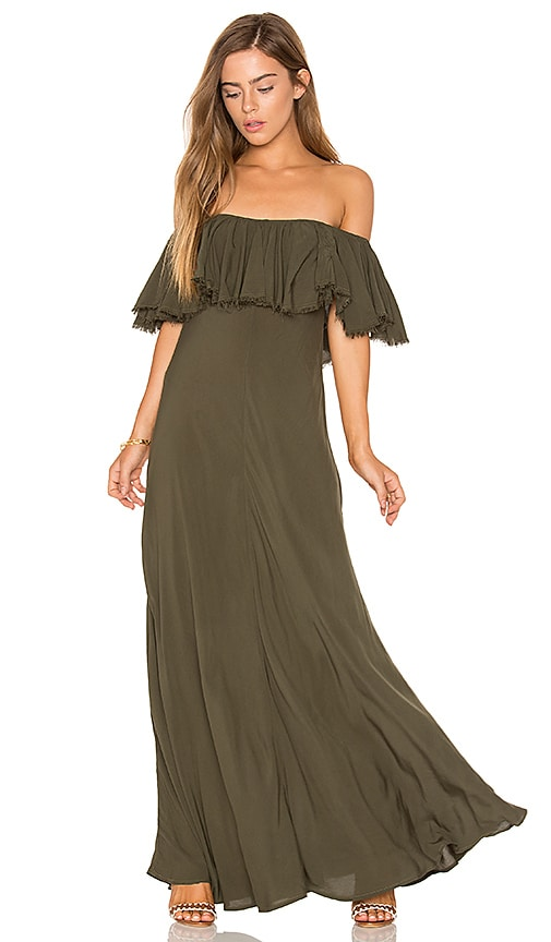 Blue Life Aphrodite Maxi Dress in Green