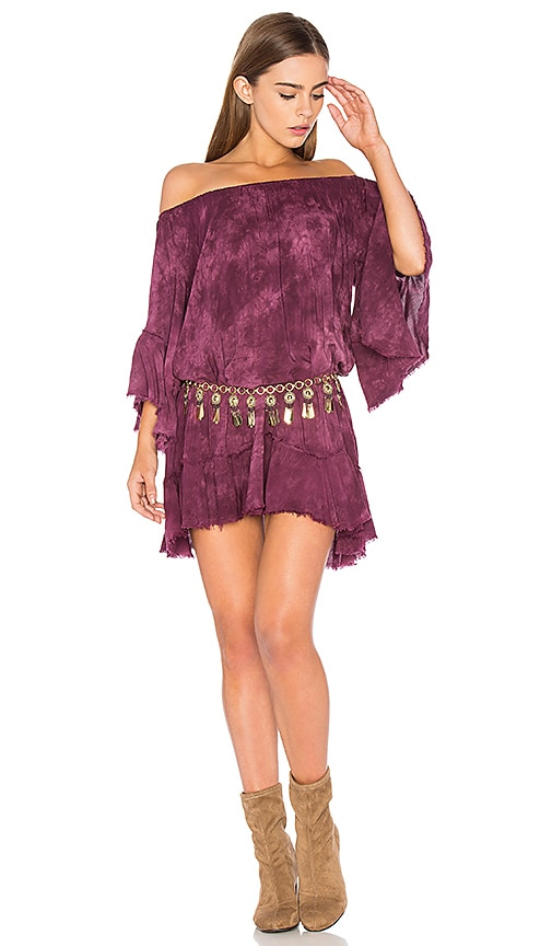 Blue Life Callista Ruffle Dress in Burgundy