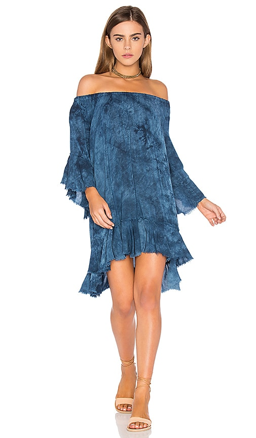 Blue Life Callista Ruffle Dress in Blue