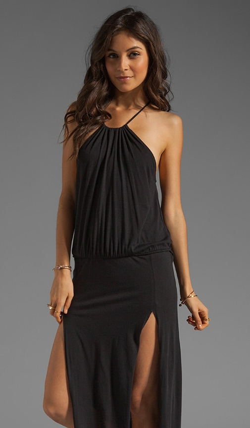 Two Slit Halter Dress
