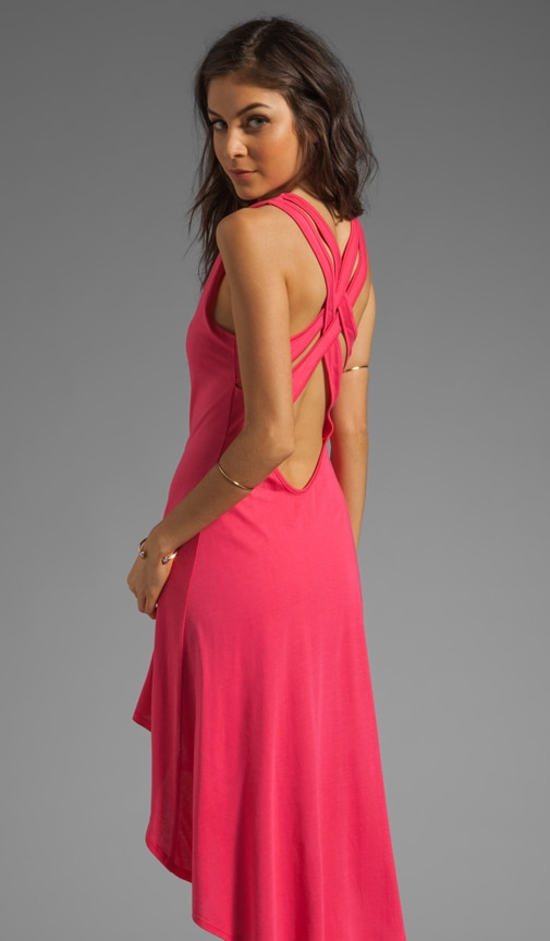 Criss Cross Back High Low Dress