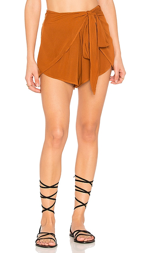 Blue Life Wrap Star Short in Rust