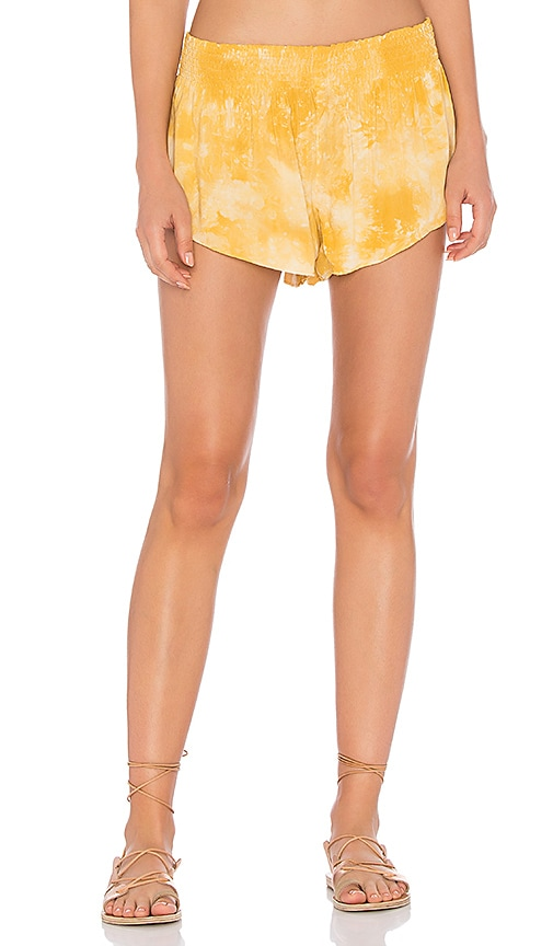 Blue Life Beach Bunny Short in Yellow