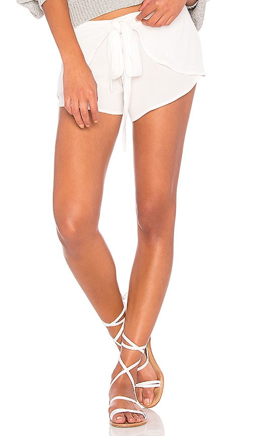 Blue Life Wrap Star Short in White