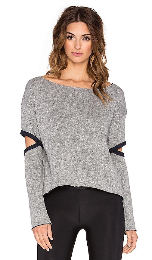 Blue Life Open Arm T-Shirt in Steel Grey