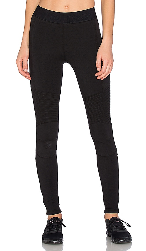 Blue Life Fit Zip It Moto Legging in Black