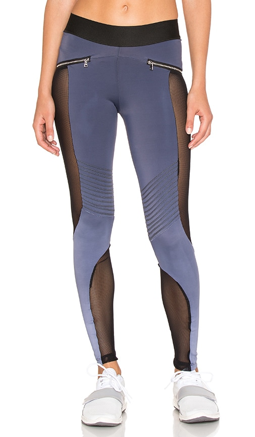 Blue Life Mesh Moto Legging in Charcoal