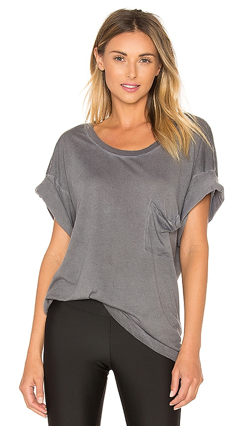 Blue Life Short Sleeve Best Bum Top in Gray