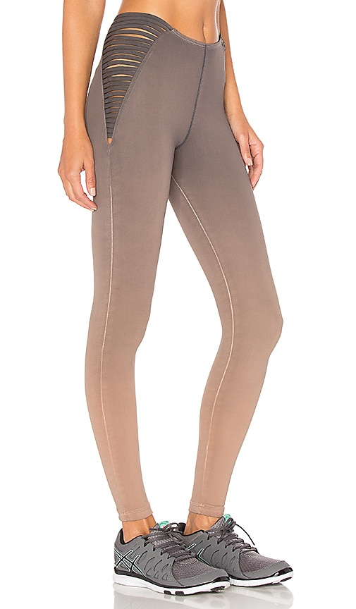 Blue Life Strappy High Waist Leggings in Taupe
