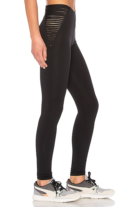 Blue Life Fit Strappy High Waist Leggings in Black