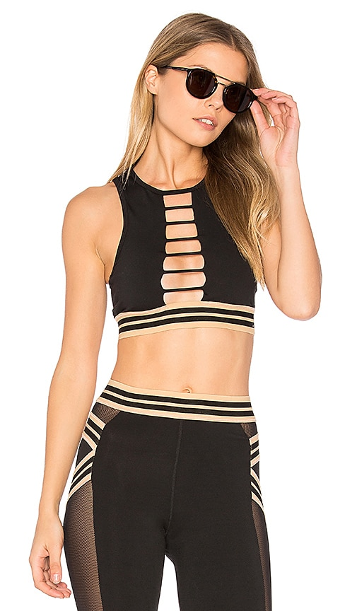Blue Life Fit Sporty Crop in Black