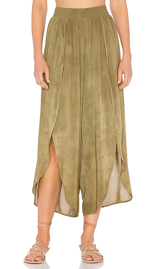 Blue Life Jeanne Wrap Culotte in Green