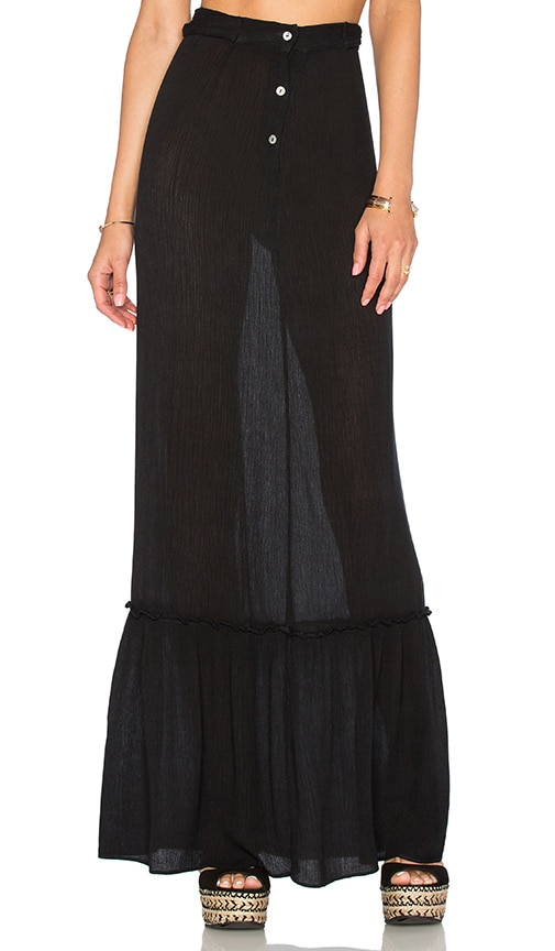 Blue Life Perfect Waist Maxi Skirt in Black