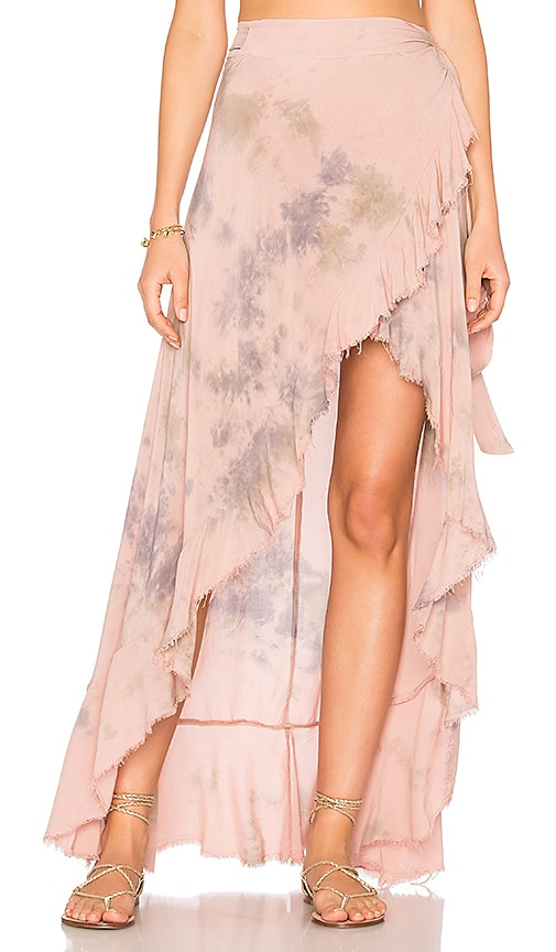 Blue Life Aura Wrap Skirt in Pink