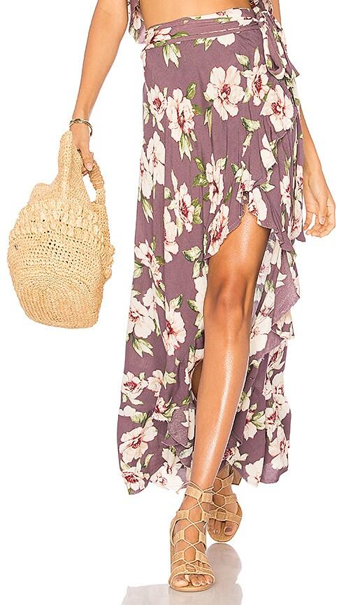 Blue Life Aura Wrap Skirt in Purple