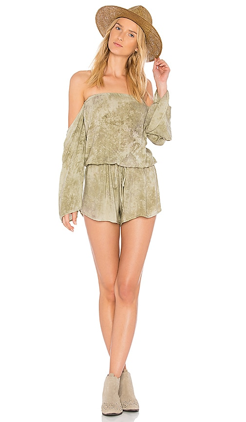 Blue Life Life's A Beach Romper in Green