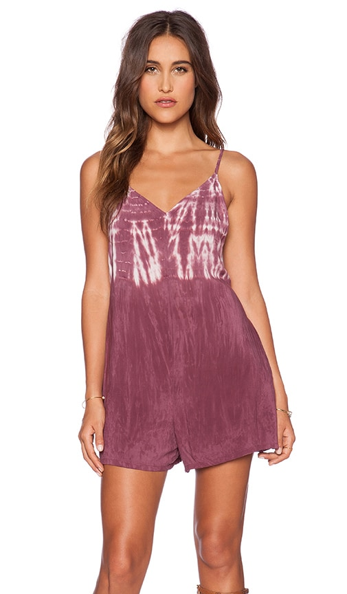 Blue Life Double V Romper in Muse