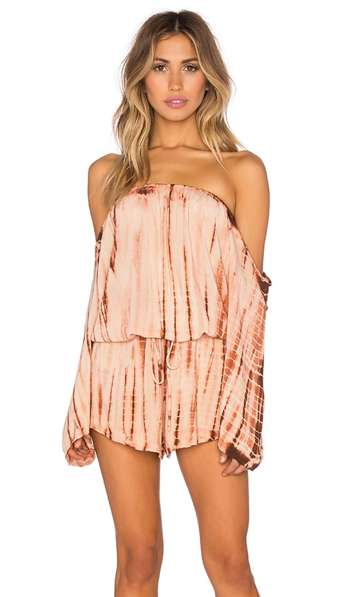 13a4f43bd91 Blue Life Life s A Beach Romper in Agave Sunset